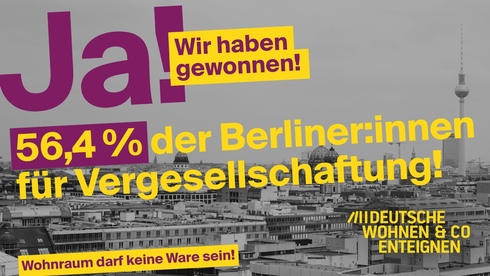 Read more about the article Expropriation initiative celebrates success: the majority of Berliners vote for socialization
